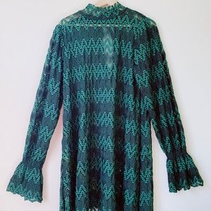 Free people lace emerald dress